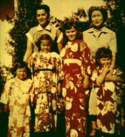 Lani's mother, Aileen Helani, Aunty Madge and sisters (Lani is tallest child)