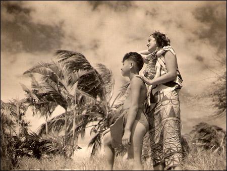 Mom plays bit part in 1930s movie Hurricane